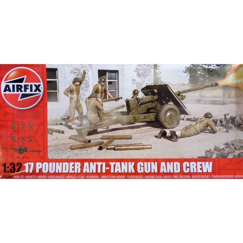 1:32 17 Pounder Anti-Tank Gun and Crew